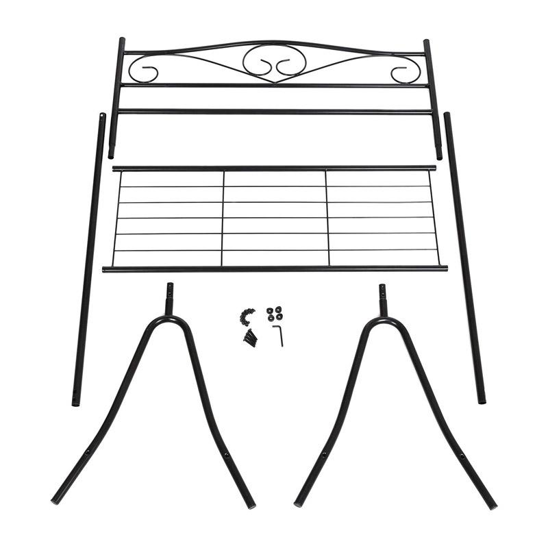 Μεταλλική Κρεμάστρα Ρούχων Δαπέδου 90 x 173 x 44.5 cm με 1 Ράφι Songmics HSR01B