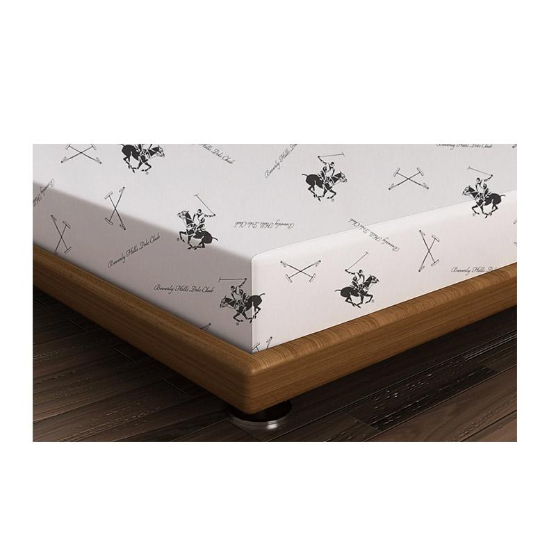 Μονό Σεντόνι 180 x 240 cm Χρώματος Λευκό - Μαύρο Beverly Hills Polo Club 176BHP1112