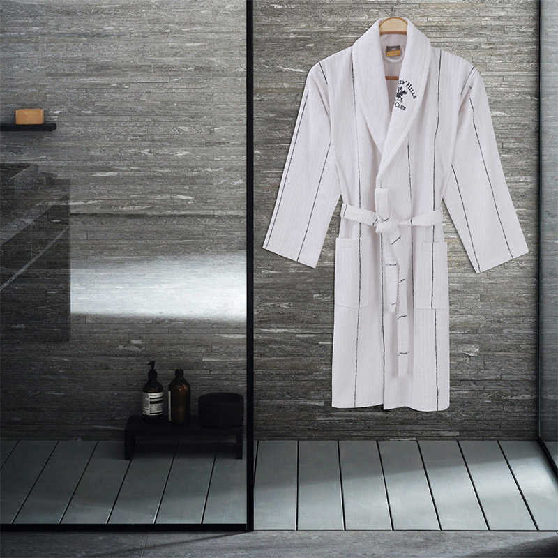 Μπουρνούζι Χρώματος Λευκό Beverly Hills Polo Club 355BHP1714