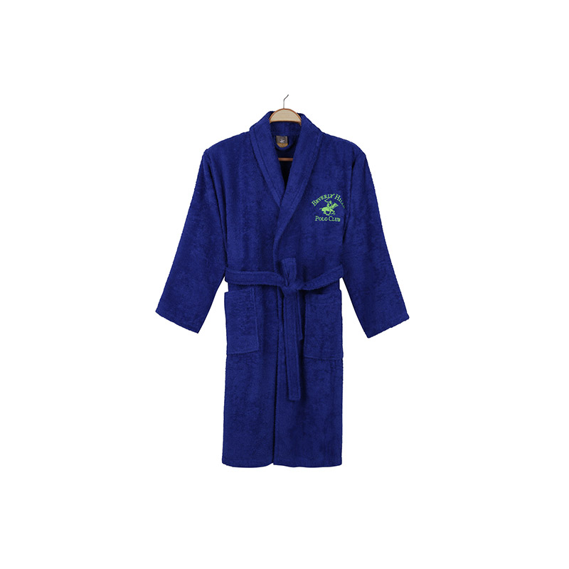 Μπουρνούζι Χρώματος Μπλε Beverly Hills Polo Club 355BHP1705