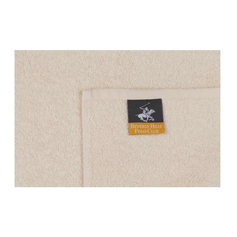 Σετ με 2 Πετσέτες Προσώπου 50 x 90 cm Χρώματος Μπεζ Beverly Hills Polo Club 355BHP1264