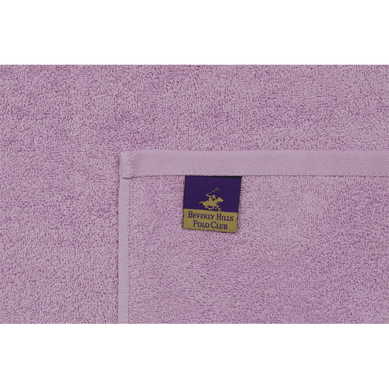 Σετ με 3 Πετσέτες Μπάνιου 70 x 140 cm Χρώματος Φούξια - Λιλά - Γκρι Beverly Hills Polo Club 355BHP2452