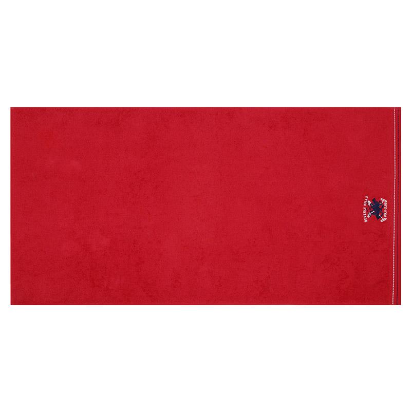 Σετ με 3 Πετσέτες Μπάνιου 70 x 140 cm Χρώματος Κόκκινο - Λευκό - Γκρι Beverly Hills Polo Club 355BHP2451