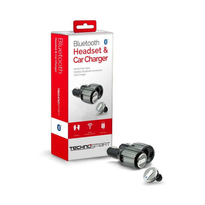 Bluetooth Ακουστικό με Φορτιστή Αυτοκινήτου Technosmart 8715342020297