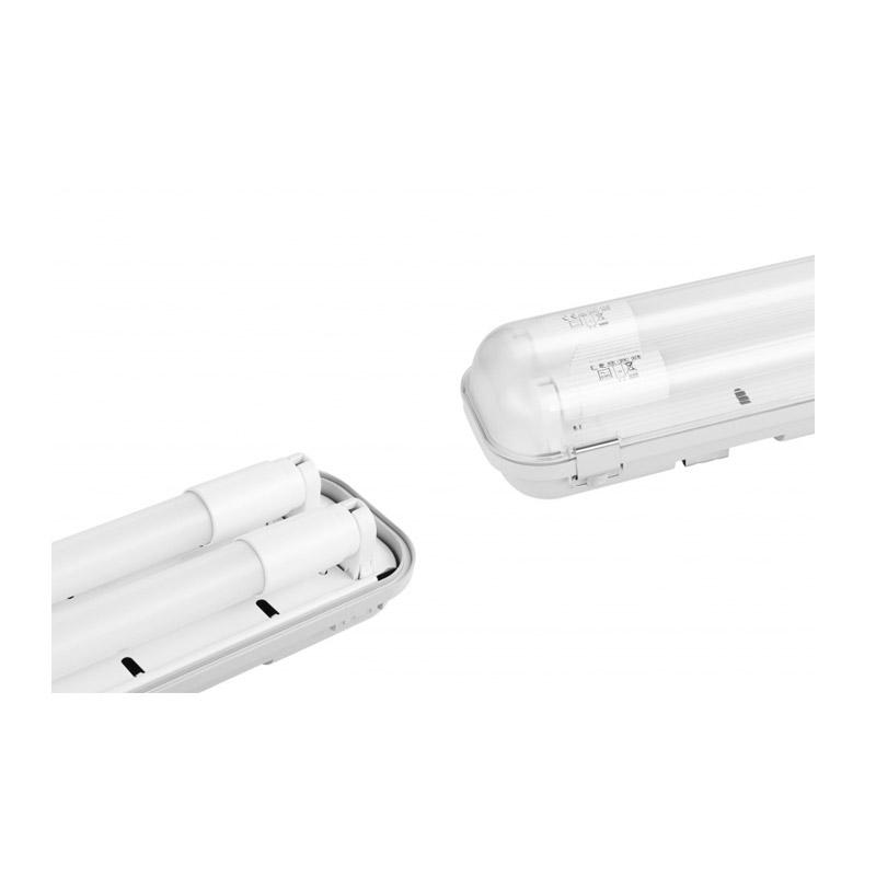 Διπλό Φωτιστικό Φθορίου Οροφής Σκαφάκι 60 cm IP65 με 2 Λαμπτήρες LED 2 x 9 W SPM 8719033876040