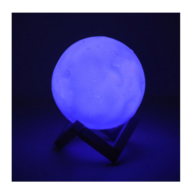 Επαναφορτιζόμενο Φωτιστικό Φεγγάρι 3D με LED Εναλλασσόμενο Φωτισμό και Τηλεχειριστήριο GEM BN2226