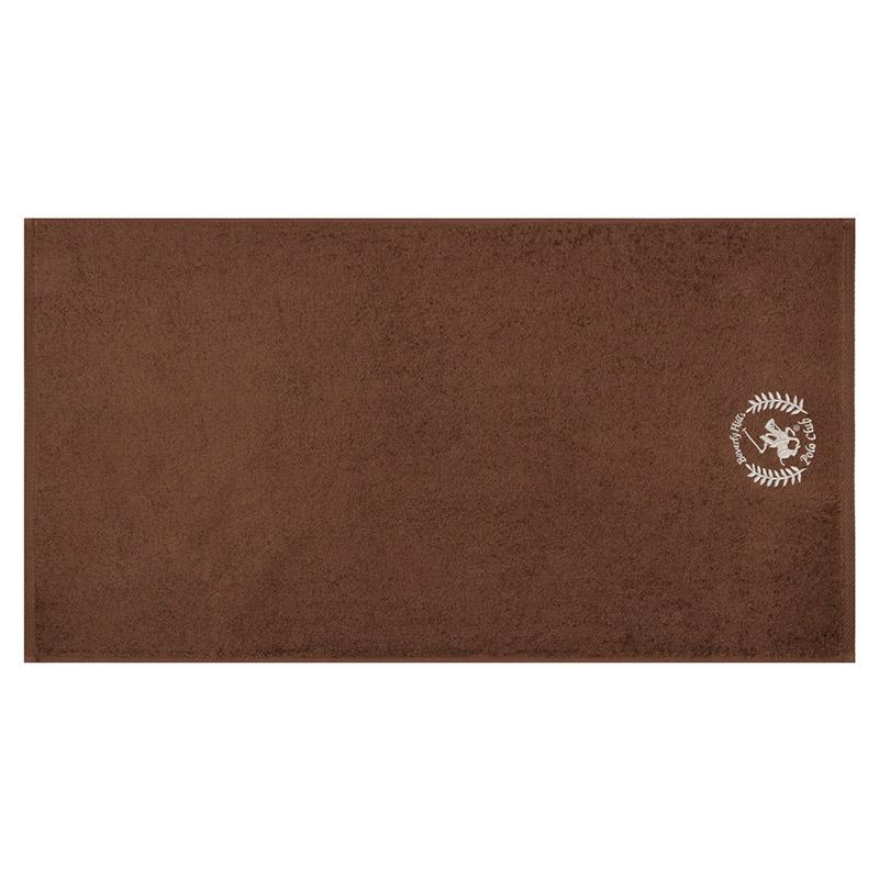 Σετ με 3 Πετσέτες Προσώπου 50 x 90 cm Χρώματος Καφέ - Καφέ Ανοιχτό Beverly Hills Polo Club 355BHP2306