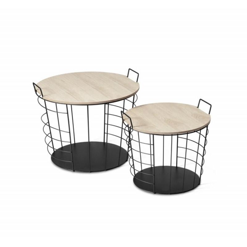 Σετ Βοηθητικά Μεταλλικά Τραπέζια 50 x 50 x 40 cm Lennart Lifa-Living 8719743326361