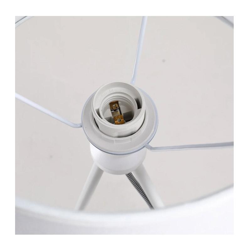 Μεταλλικό Τρίποδο Επιτραπέζιο Φωτιστικό 40 W Χρώματος Λευκό HOMCOM B31-133V70WT
