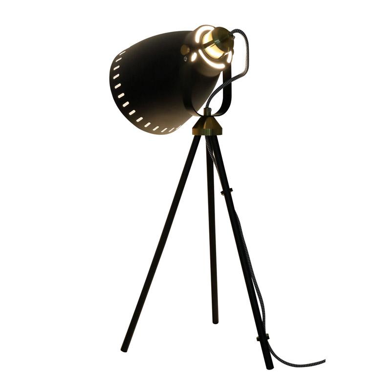 Μεταλλικό Τρίποδο Επιτραπέζιο Φωτιστικό 40 W Χρώματος Μαύρο HOMCOM B31-131V70BK