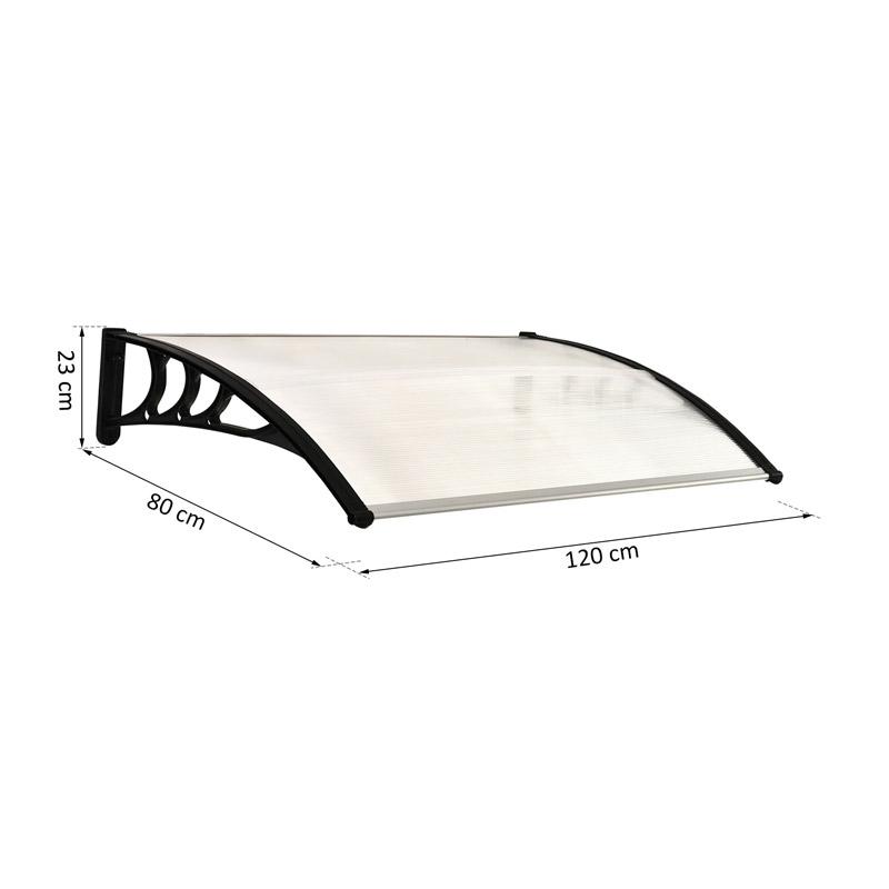 Πλαστικό Κιόσκι - Τέντα Πόρτας Εισόδου 80 x 120 x 23 cm Χρώματος Λευκό Outsunny B70-011V02WT