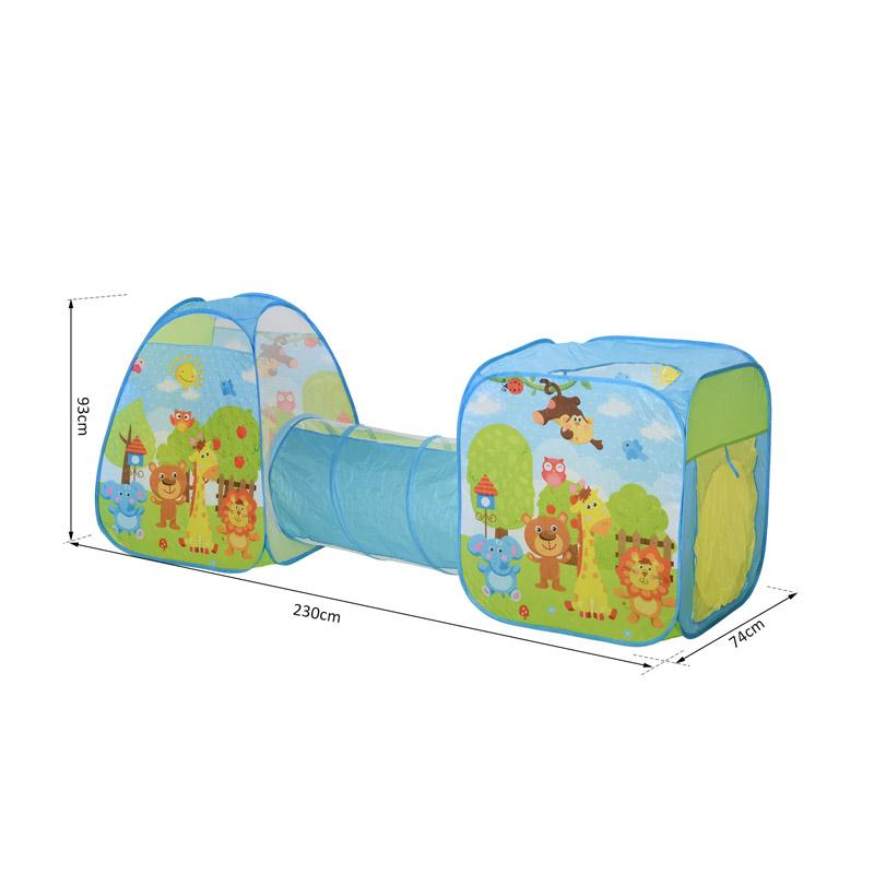 Σετ 2 Παιδικές Σκηνές με Τούνελ HOMCOM 345-011