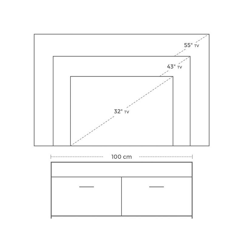 Ξύλινο Έπιπλο Τηλεόρασης 100 x 40 x 40 cm VASAGLE LTC01WN