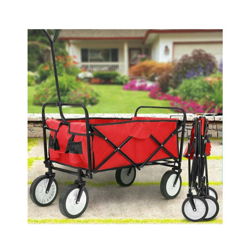 Αναδιπλούμενο Καρότσι Κήπου 93.5 x 50 x 59.5 cm Χρώματος Κόκκινο Hoppline HOP1000778-2