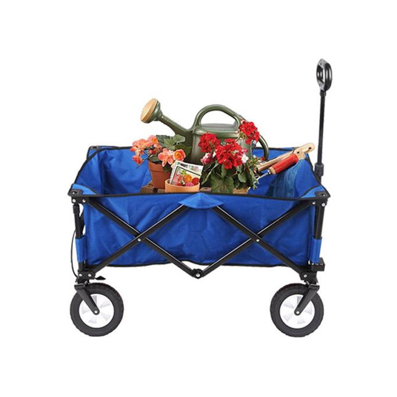 Αναδιπλούμενο Καρότσι Κήπου 93.5 x 50 x 59.5 cm Χρώματος Μπλε Hoppline HOP1000778-1