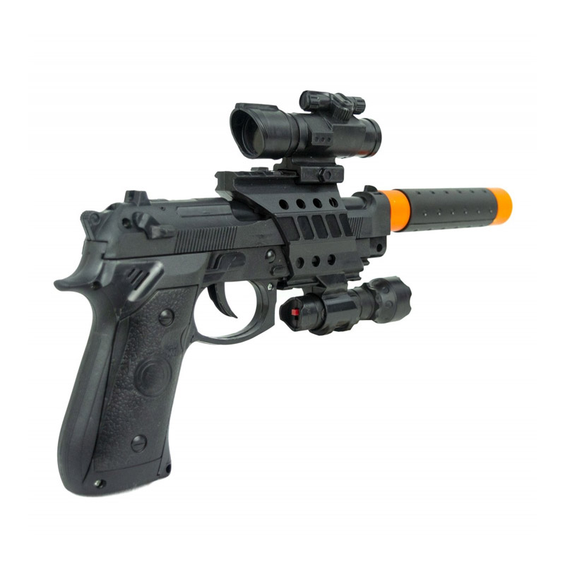 Παιδικό Όπλο με Φώτα Και Ήχους Σιγαστήρα MWS16433