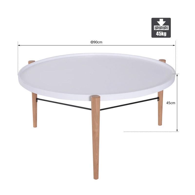 Ξύλινο Τραπέζι Σαλονιού 90 x 45 cm HOMCOM 833-601