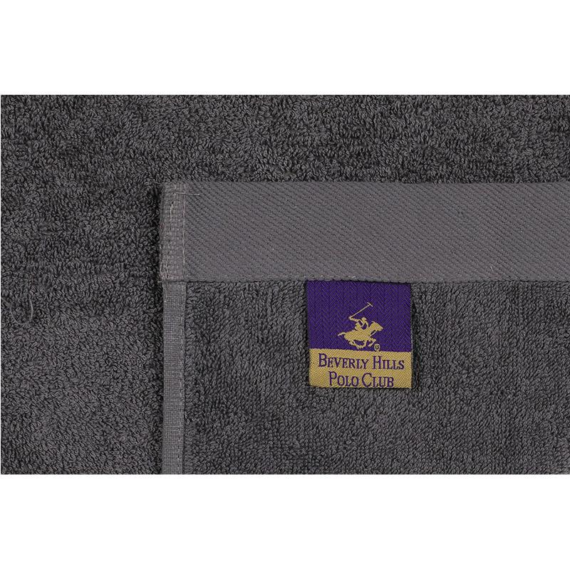 Σετ με 2 Πετσέτες Προσώπου 50 x 90 cm Χρώματος Ροζ - Γκρι Beverly Hills Polo Club 355BHP2364