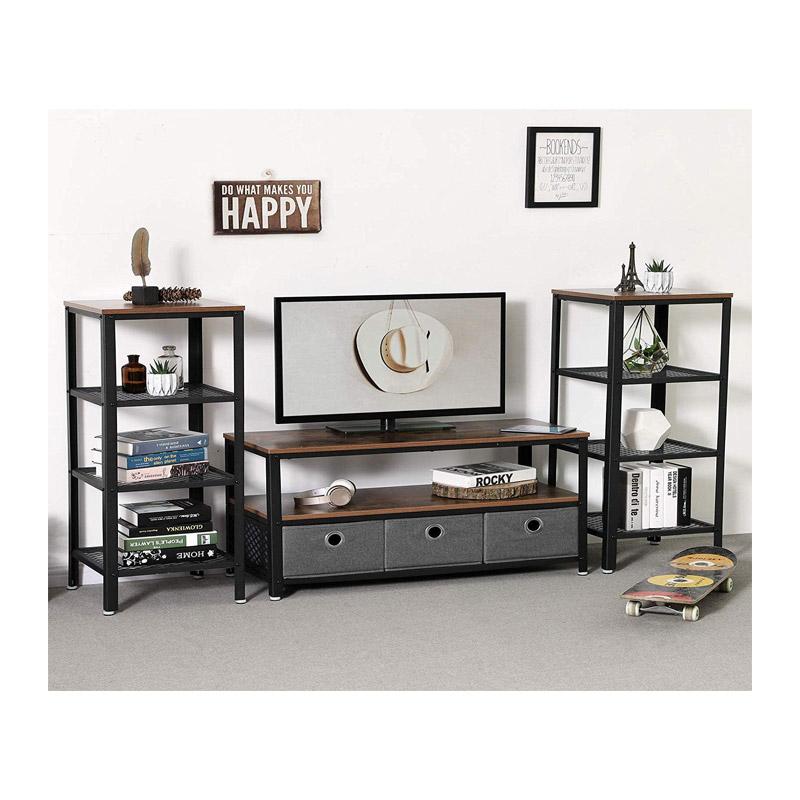 Μεταλλικό Έπιπλο Τηλεόρασης με 2 Ράφια 100 x 40 x 52 cm VASAGLE LTV40BX