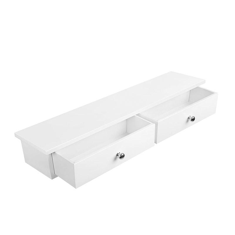 Ξύλινο Έπιπλο – Συρταριέρα Τοίχου με 2 Συρτάρια 65 x 15 x 10 cm Songmics LWS65WT