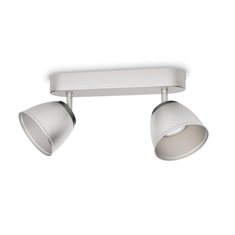 Μεταλλικό LED Φωτιστικό Σποτ Οροφής 2 x 4 W County Philips 533521716