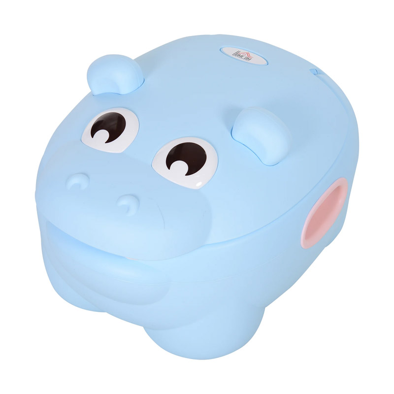 Φορητό Εκπαιδευτικό Γιογιό με Καπάκι Hippo 40 x 30 x 23 cm HOMCOM 460-005BU
