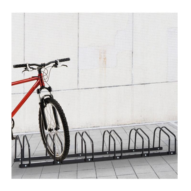Μεταλλική Μπάρα Στάθμευσης 6 Ποδηλάτων HOMCOM AA0-026BK