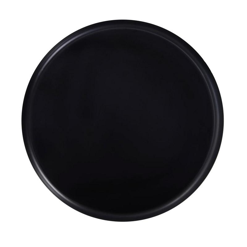 Μεταλλικό Στρογγυλό Τραπέζι 39 x 44 cm Χρώματος Μαύρο HOMCOM 833-686BK