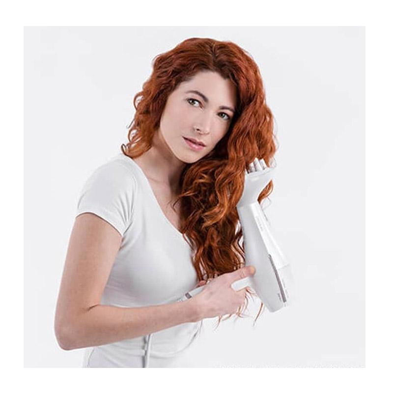 Πιστολάκι Μαλλιών με Ιονιστή 2200 W Χρώματος Λευκό Cecotec Bamba IoniCare 5300 Maxi Aura CEC-04202