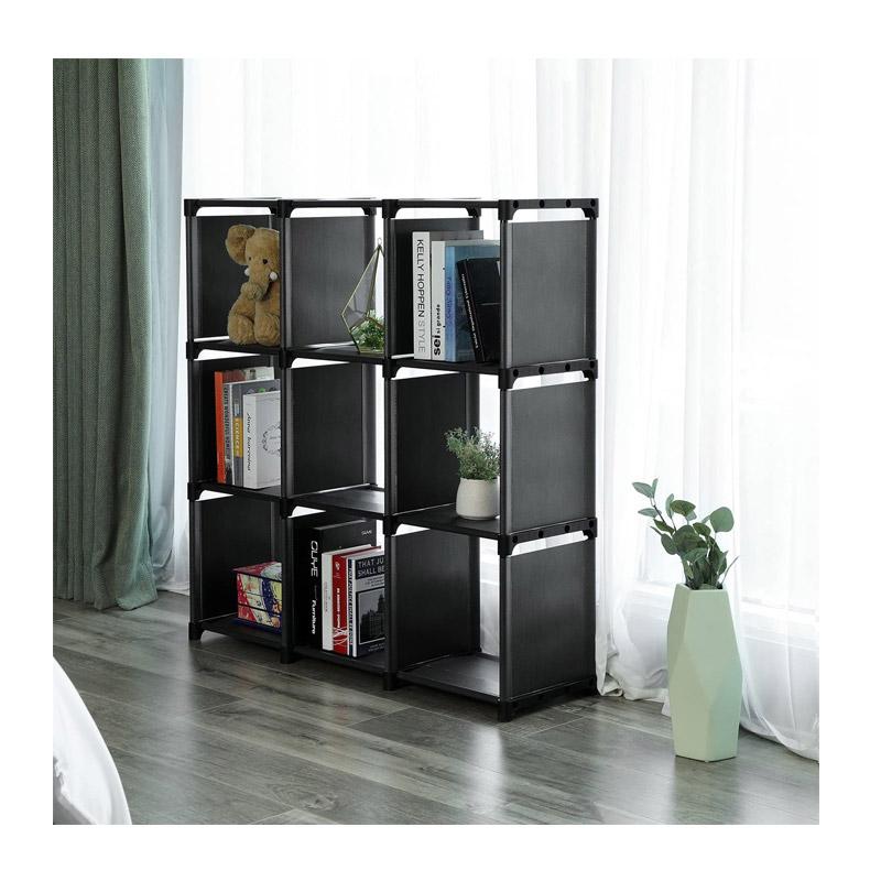 Πολυμορφική Βιβλιοθήκη με 9 Κύβους Αποθήκευσης 105 x 30 x 105 cm Songmics LSN45BK
