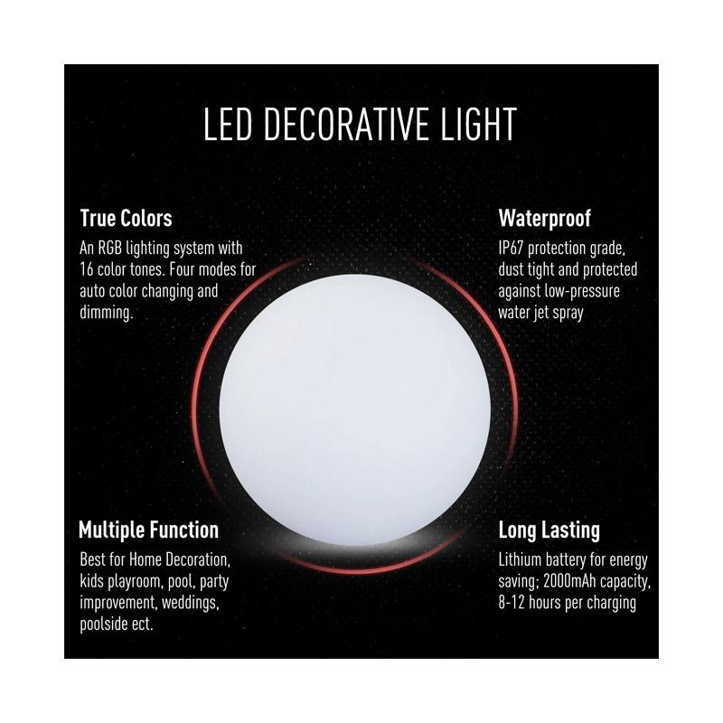 Φωτιστικό Μπάλα LED 30 cm HOMCOM B31-058V01