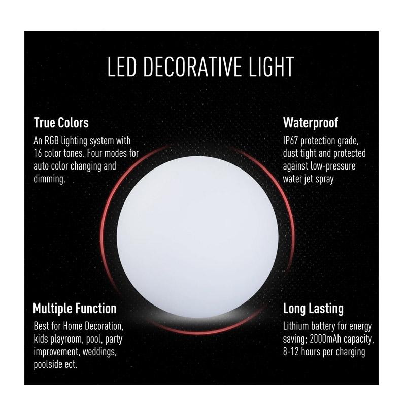 Φωτιστικό Μπάλα LED 35 cm HOMCOM B31-058V02