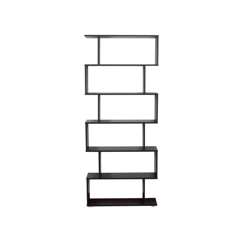 Ξύλινη Βιβλιοθήκη με 6 Ράφια 80 x 24 x 191 cm HOMCOM 831-037BK