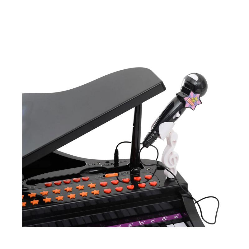 Παιδικό Ηλεκτρονικό Πιάνο με Κάθισμα και Μικρόφωνο HOMCOM 390-003BK