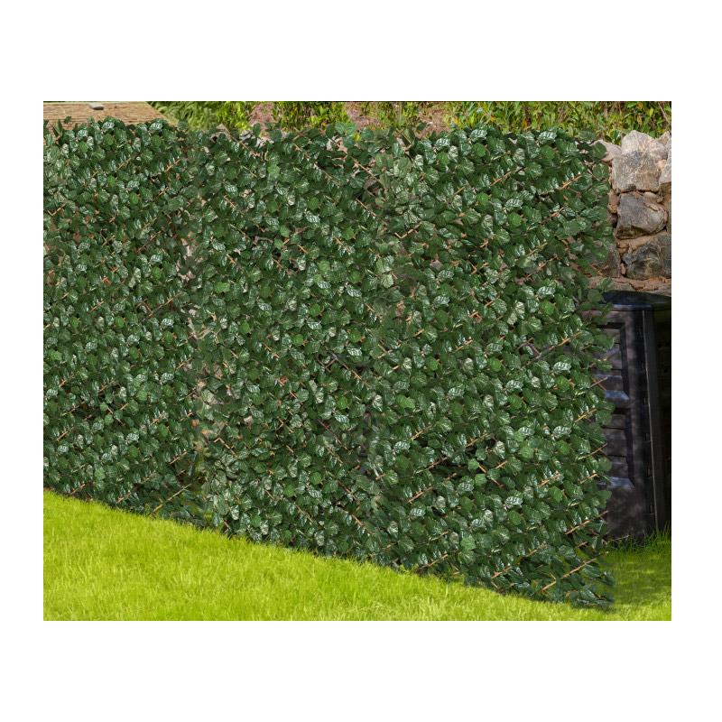 Πτυσσόμενη Πέργκολα με 384 Τεχνητά Φύλλα Δάφνης 2 x 1 m Χρώματος Σκούρο Πράσινο Inkazen 40022180