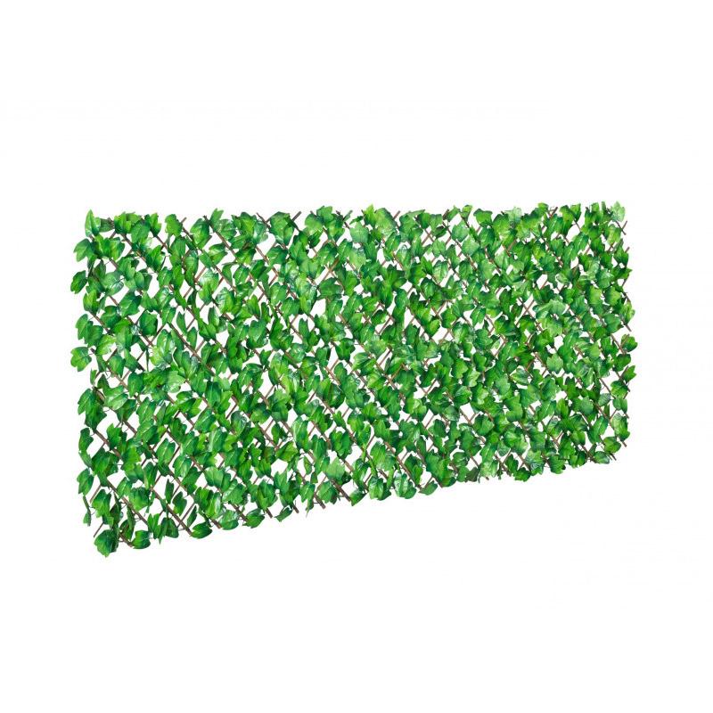 Πτυσσόμενη Πέργκολα με 384 Τεχνητά Φύλλα Δάφνης 2 x 1 m Χρώματος Πράσινο Inkazen 40022181