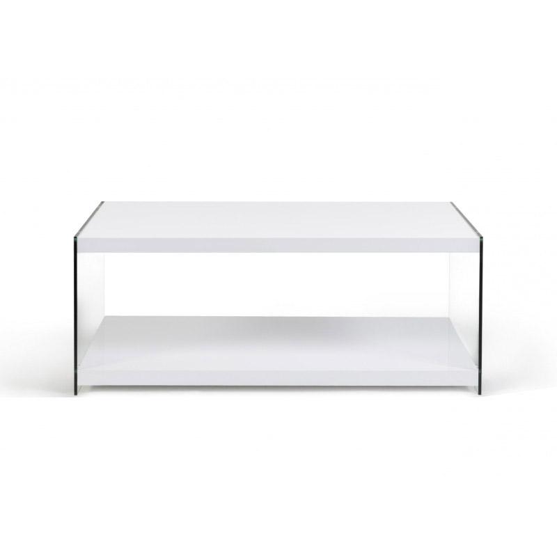 Ξύλινο Τραπέζι Σαλονιού 98 x 50 x 40 cm Χρώματος Λευκό Lucia Idomya 30084296