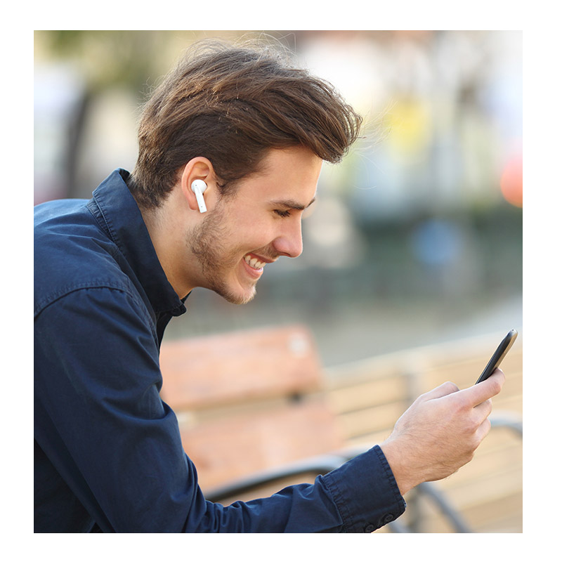 Ασύρματα Ακουστικά Bluetooth ANC-TWS με Βάση Φόρτισης MusicMan Technaxx BT-X52