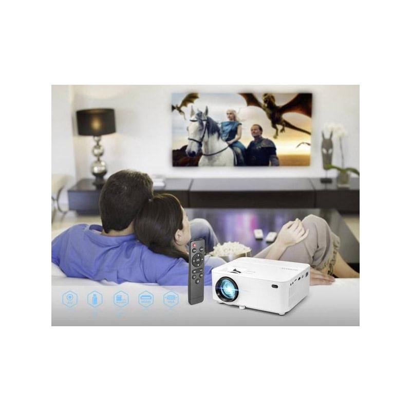 Φορητός Προτζέκτορας LED 1800 ANSI Lumens 800 x 600 2000 : 1 με Τηλεχειριστήριο Technaxx TX-113