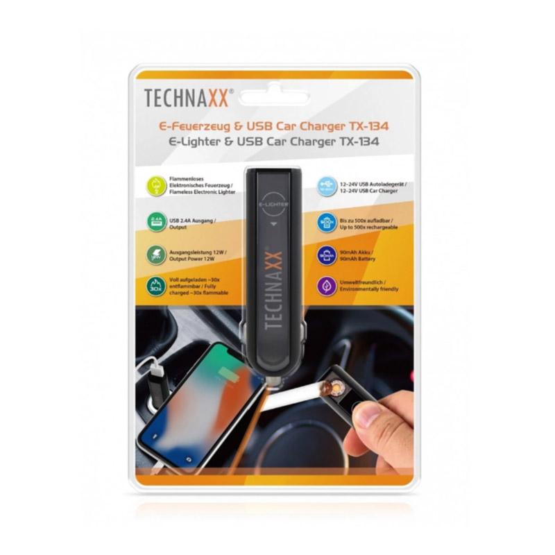 Ηλεκτρονικός Αναπτήρας & Φορτιστής Αυτοκινήτου USB Technaxx TX-134