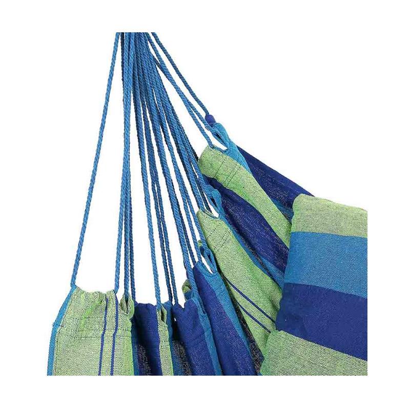 Μονή Αιώρα Canvas με Μαξιλάρια 45 x 80 cm Χρώματος Μπλε Hoppline HOP1001069-1