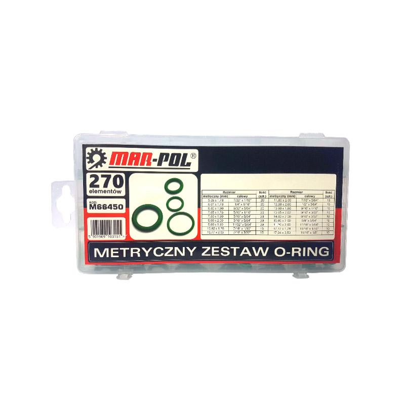 Σετ Λαστιχάκια O-Ring με Θήκη 270 τμχ MAR-POL M66450