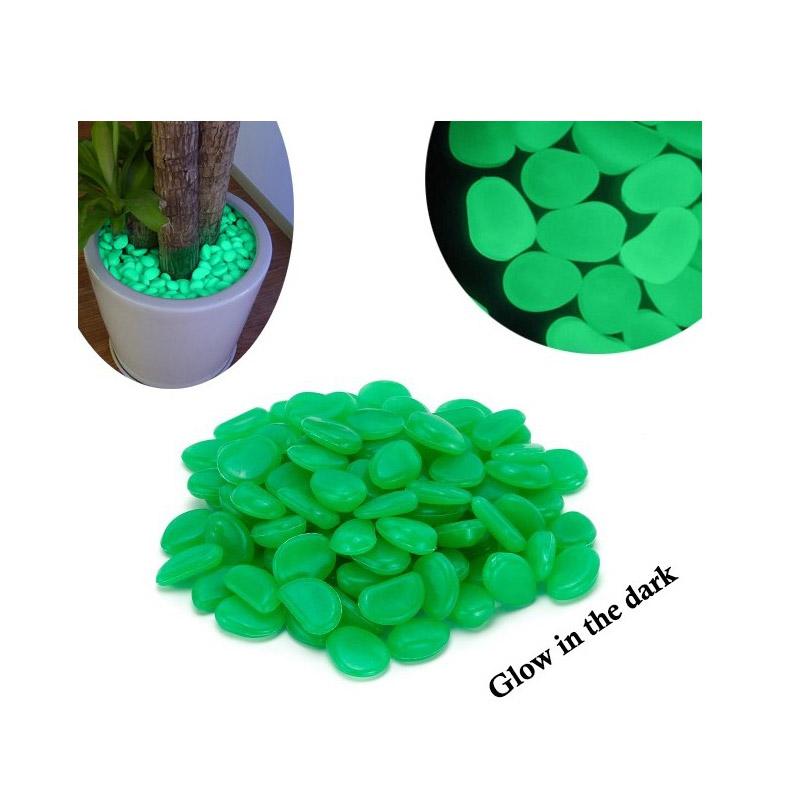 Διακοσμητικές Πέτρες που Λάμπουν στο Σκοτάδι 300 τμχ MWS1490-Green