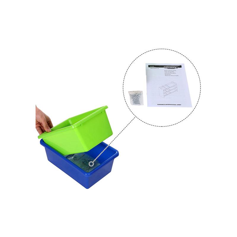 Ξύλινη Παιδική Ραφιέρα με 9 Κουτιά Αποθήκευσης 86 x 60 x 26.5 cm Songmics GKR02W