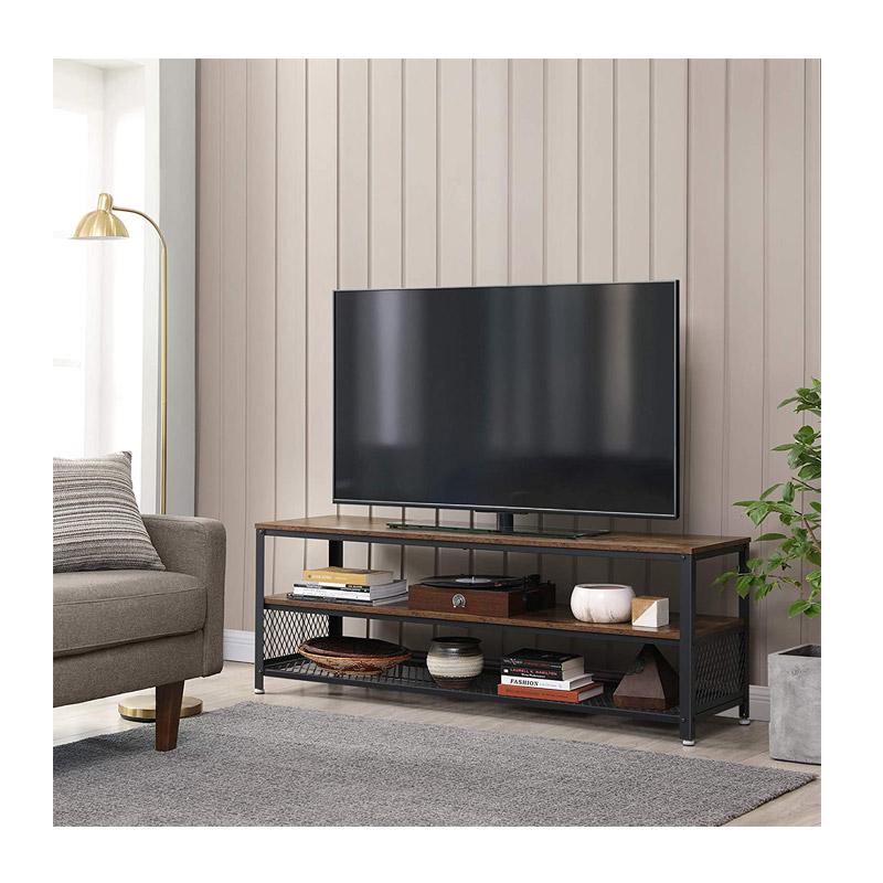 Μεταλλικό Έπιπλο Τηλεόρασης με 2 Ράφια 140 x 40 x 52 cm VASAGLE LTV50BX
