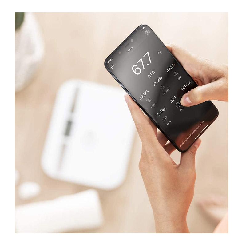 Ψηφιακή Ζυγαριά Μπάνιου - Λιπομετρητής Cecotec Surface Precision EcoPower 10200 Smart Healthy Χρώματος Λευκό CEC-04254