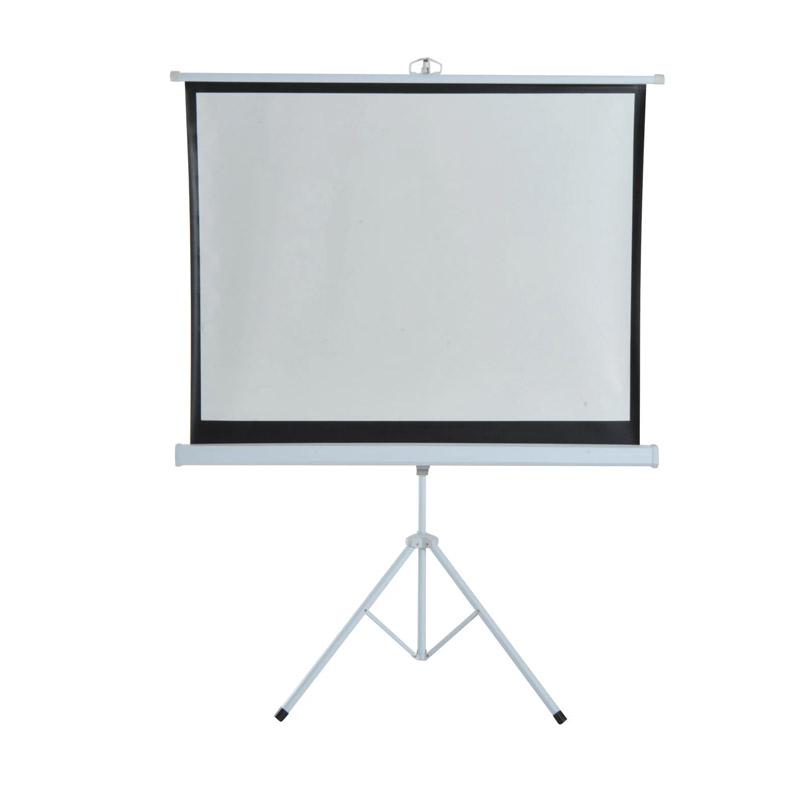 Χειροκίνητη Οθόνη - Πανί Προβολής με Τρίποδο 171 x 128 cm HOMCOM 001-007