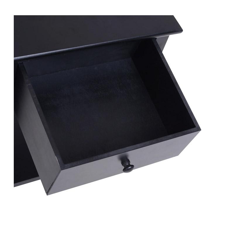 Βοηθητικό Ξύλινο Τραπεζάκι με 1 Ράφι και 1 Συρτάρι 40 x 30 x 55 cm Χρώματος Μαύρο HOMCOM 833-239BK