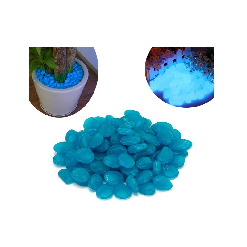 Διακοσμητικές Πέτρες που Λάμπουν στο Σκοτάδι Χρώματος Μπλε 300 τμχ MWS1490-Blue