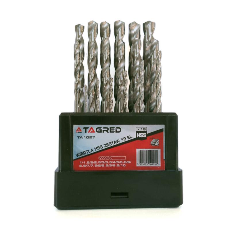 Σετ Τρυπάνια Μετάλλου HSS 1-10 mm 19 τμχ TAGRED TA1027